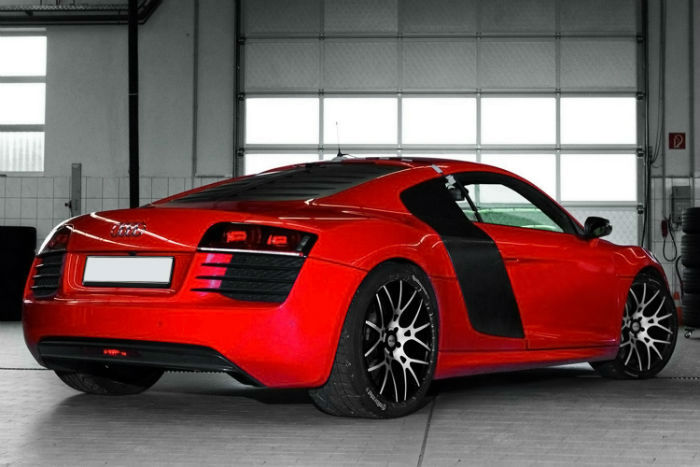 Audi R8 Matte Red Topismag Com